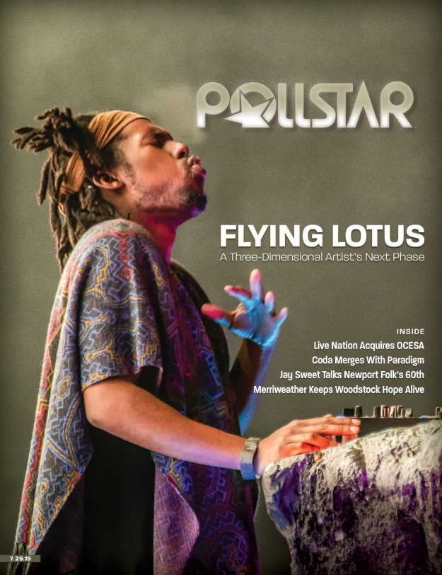 Cover of Pollstar's July 29, 2019, issue. PhotoCredit: Dustin Downing on behalf of the Los Angeles Philharmonic Association