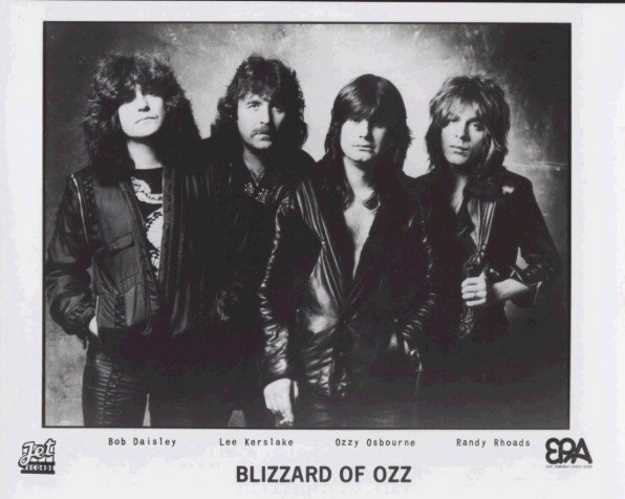 Original lineup of the Blizzard of Ozz. PhotoCredit: Jet Records
