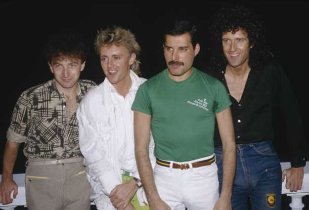 Queen, 1985. (Photo by Dave Hogan/Getty Images)
